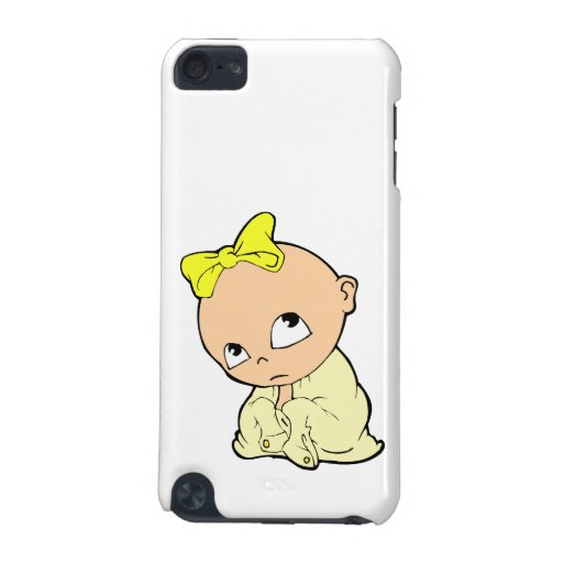 baby in yellow with bow iPod touch (5th generation) covers