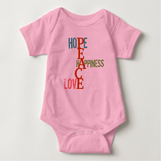 Baby Infant Crawler, Hope Happiness Love Peace Infant Creeper