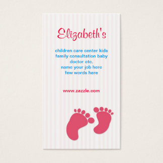 baby infant family business card