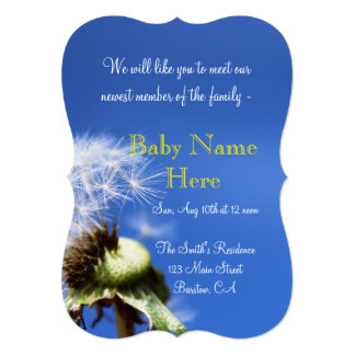 baby infant nursery shower party newborn Modern Card