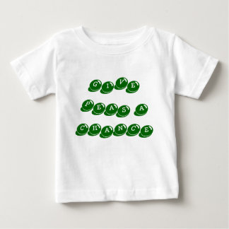 baby,infant tee shirt,give peas a chance