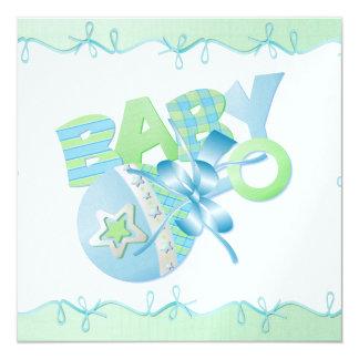 "Baby Invitation  5.25"" x 5.25"""