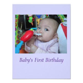 """Baby Invitation Announcement 4.25"""" X 5.5"""" Invitation Card"""