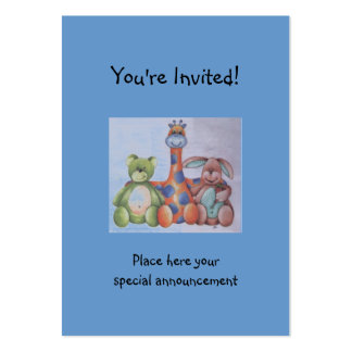 baby invitation large business card