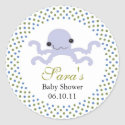 Baby Invitation or Favor Sticker - Baby Octopus sticker