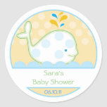Baby Invitation or Favor Sticker - Baby Whale