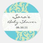 Baby Invitation or Favor Sticker - Fun Fabric