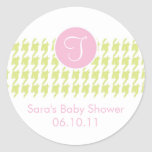 Baby Invitation or Favor Sticker - Monogram