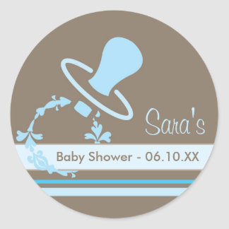 Baby Invitation or Favor Sticker - Pacifier