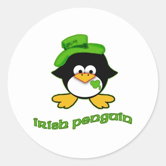 Baby Irish Penguin Classic Round Sticker