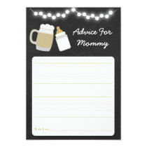 Baby Is Brewing Baby Shower Advice Card