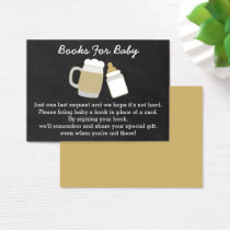 Baby Is Brewing Baby Shower Book Request Cards