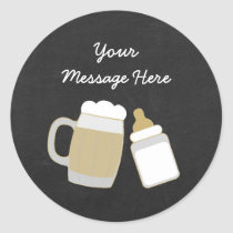 Baby Is Brewing Baby Shower Classic Round Sticker