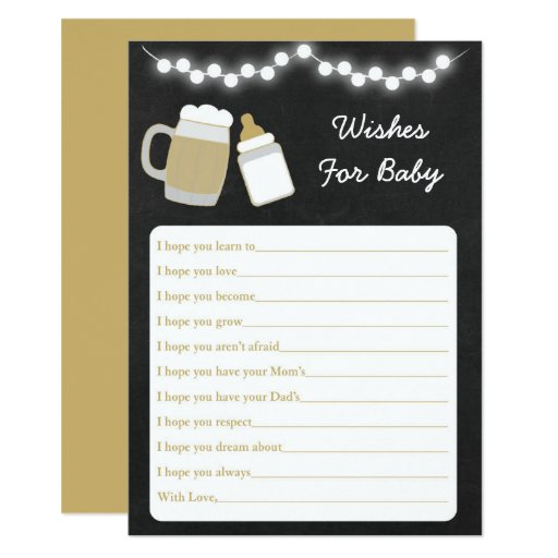 Baby Is Brewing Baby Shower Wishes For Baby Card