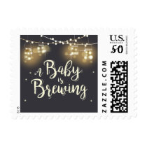 Baby is brewing postage stamps Baby shower BabyQ