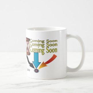 Baby is coming soon with an hourglass coffee mug