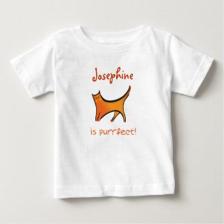 Baby is purrfect! infant t-shirt