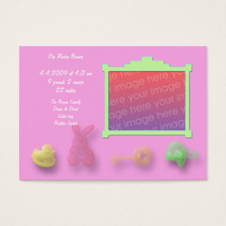 Baby Items Announcement Cards