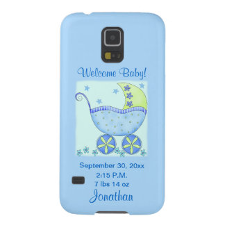 Baby Its A Boy Blue Birth Announcement Cell Galaxy S5 Covers