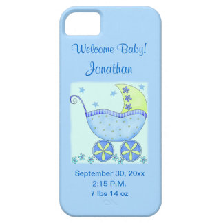 Baby Its A Boy Blue Birth Announcement Cell iPhone SE/5/5s Case