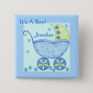 "Baby ""Its A Boy"" Name Personalized Badge Pin"