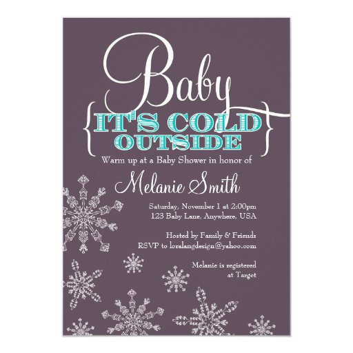baby it 39 s cold outside baby shower invitation zazzle