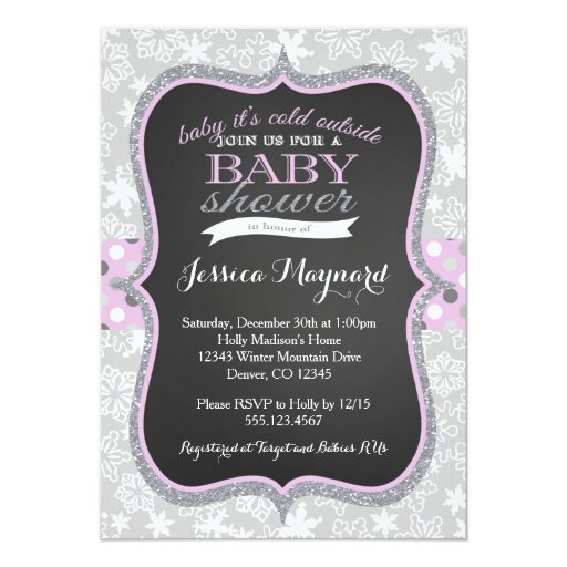 baby it's cold outside baby shower invitation 2