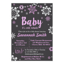 Baby Its Cold Outside Baby Shower Invitations Girl