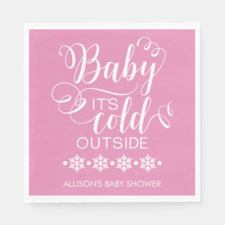 Baby It's Cold Outside Baby Shower Napkin