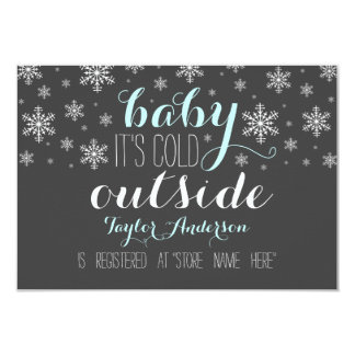 Baby it's Cold Outside Baby Shower Registry Insert 3.5x5 Paper Invitation Card