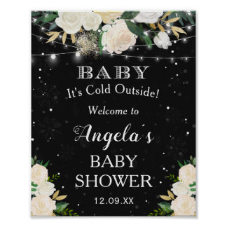 Baby Its Cold Outside Baby Shower Welcome Sign