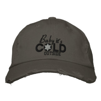 Baby It's Cold Outside Black And White Cap