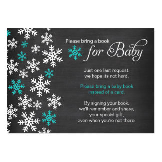 Baby It's Cold Outside Chalkboard Turquoise Book Large Business Card