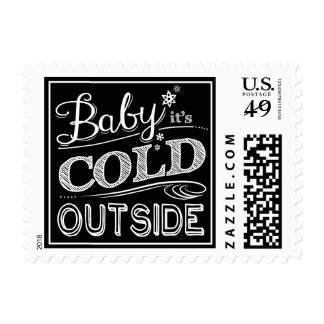 Baby it's Cold Outside Chalkboard Winter Stamp