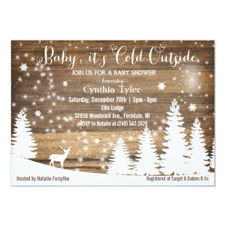 Baby Its Cold Outside Deer Baby Shower Invitation