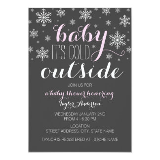 Baby it's Cold Outside - Girl Baby Shower Invite
