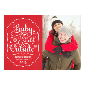 Baby It's Cold Outside | Holiday Photo Card
