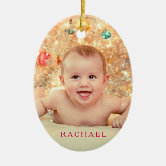 Baby It's Cold Outside in Red Ceramic Ornament