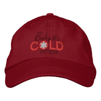 Baby It's Cold Outside Lovers Red Cap