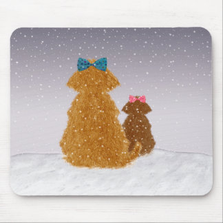 Baby it's cold outside mouse pad