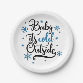 baby its cold outside paper plate