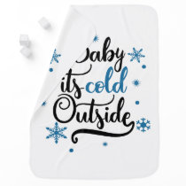 baby its cold outside receiving blanket