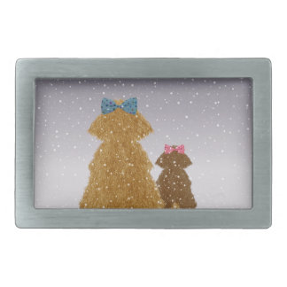 Baby it's cold outside rectangular belt buckle