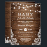 """Baby Its Cold Outside Rustic Winter Baby Shower Invitation<br><div class=""""desc"""">Baby Its Cold Outside 