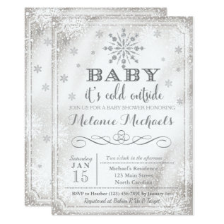 Baby It's Cold Outside Snow Baby Shower Invite at Zazzle