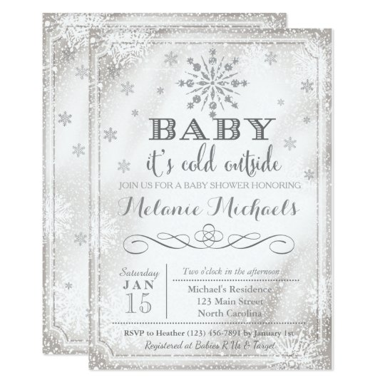 Baby Itu0026#39;s Cold Outside Snow Baby Shower Invite