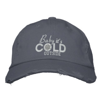 Baby It's Cold Outside Snow Embroidery Embroidered Baseball Hat
