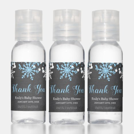 Baby Its Cold Outside Snow Winter Boy Baby Shower Hand Sanitizer
