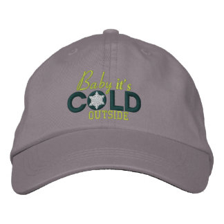 Baby It's Cold Outside Snowflakes Embroidered Cap