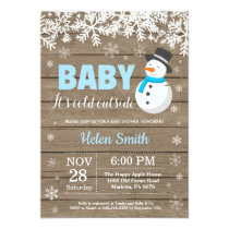 Baby its Cold Outside Snowman Boy Baby Shower Invitation